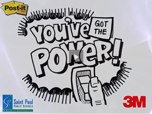 Image from YouTube video of 3M's St. Paul Schools Energy Project