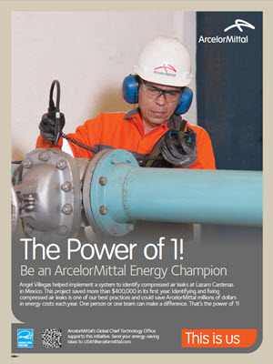 "ArcelorMittal ""Power of One"" poster"