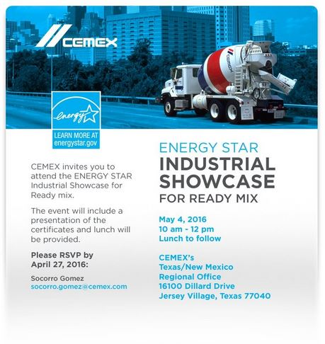 A flyer from the CEMEX Industrial Showcase