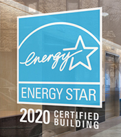 The ENERGY STAR decal on a certified building