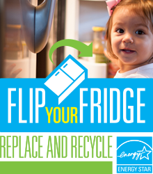 Flip your Fridge - replace and recycle