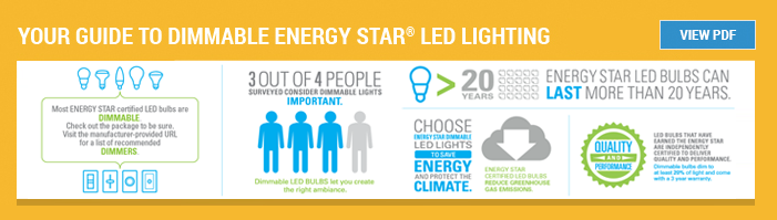 Your guide to dimmable ENERGY STAR LED Lighting