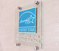 ENERGY STAR cyan plaque