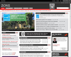HanesBrand Website Homepage