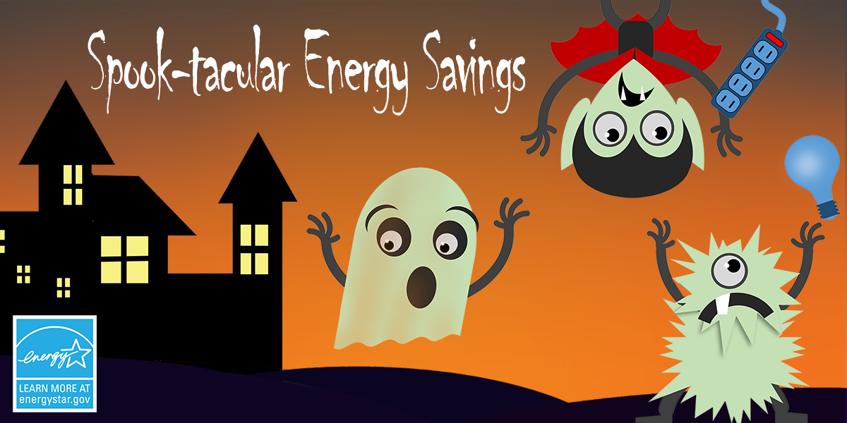 spook-tacular energy savings with various halloween images