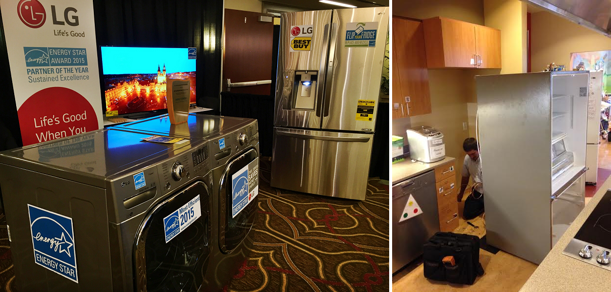 LG appliances at their booth at the 2015 ENERGY STAR Products Partner Meeting.