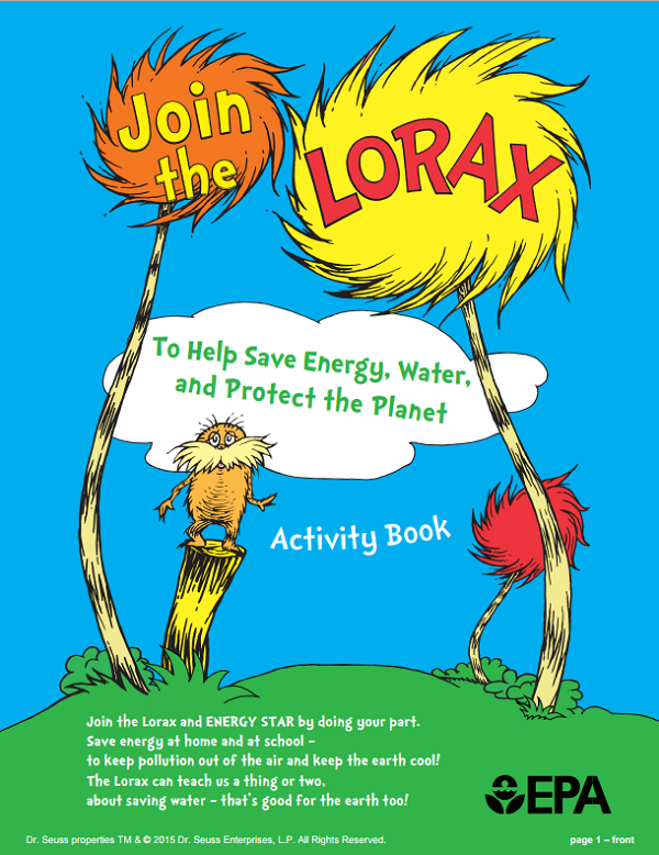 Lorax Activity Book front cover