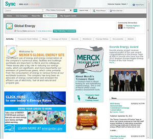 image of Merck's Global Energy Community of Interest internal website