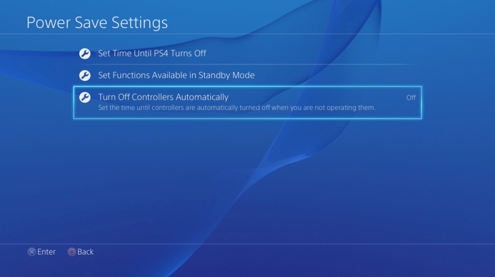 PS4 Turn Off Controllers