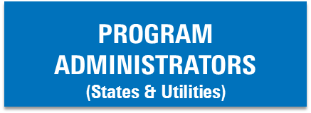 Button that says program administrators (states and utilities)