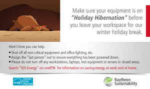 "Raytheon's ""Holiday Hibernation"" poster"
