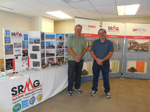 This photograph depicts the Salt River Materials Group display and presenters at the Arizona SciTech Festival held at Yavapai Co