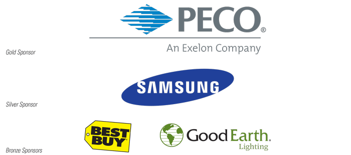 Gold Sponsor: PECO, an Exelon Company; Silver Sponsor: Samsung; Bronze Sponsors: Best Buy and Good Earth Lighting