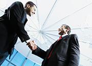 twp men shaking hands