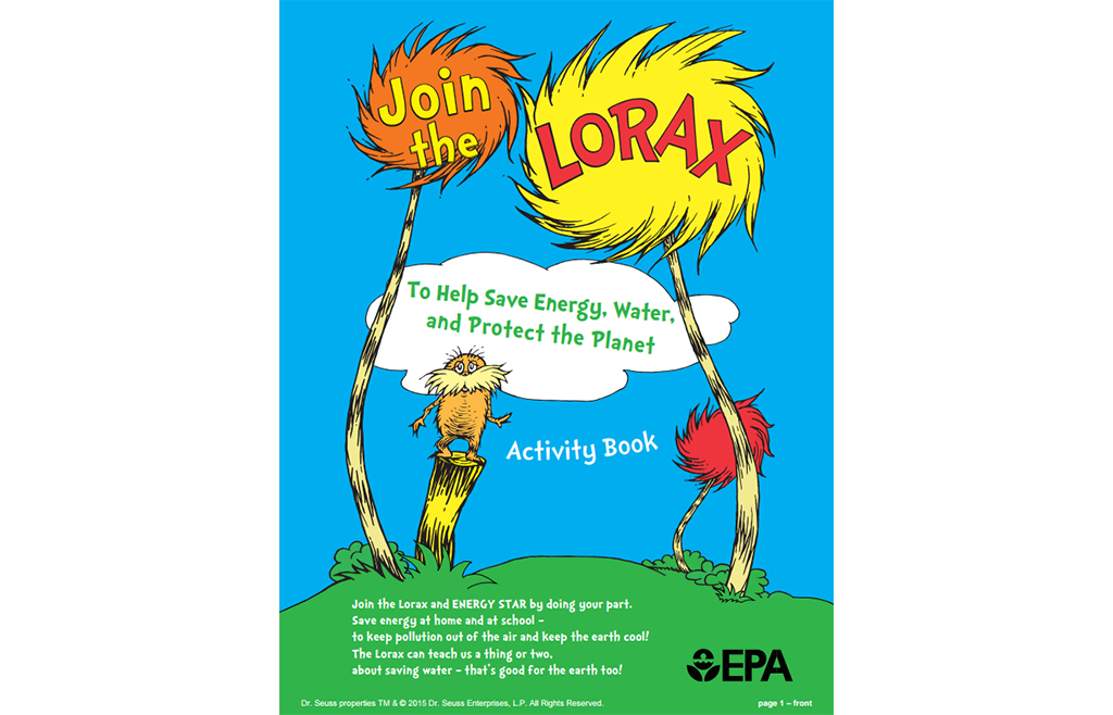 Lorax Activity Book cover
