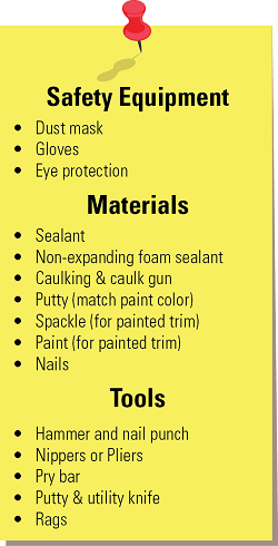 A list of materials for the project.