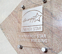 ENERGY STAR acrylic etched plaque