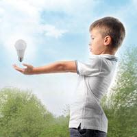 boy with light bulb
