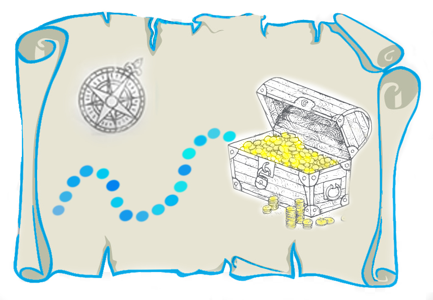 Picture of a treasure map