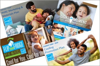 collage of various Marketing Materials