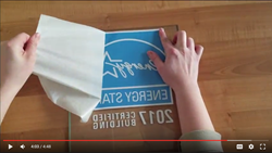 How to install your ENERGY STAR decal like a pro video