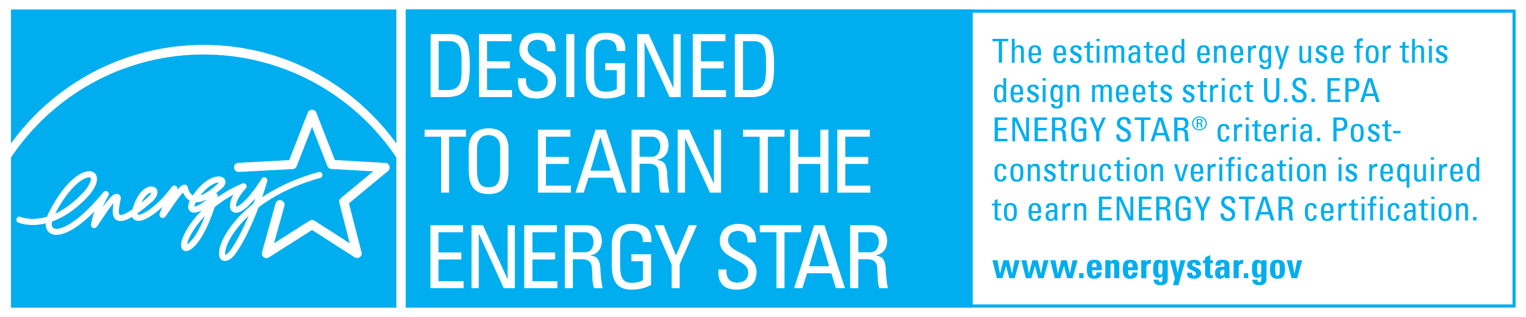 Designed to Earn the ENERGY STAR logo