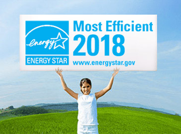 2018 ENERGY STAR Most Efficient image with girl holding sign
