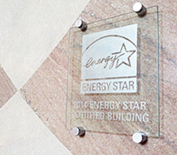 ENERGY STAR etched glass plaque