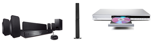 image of various audio-video equipment