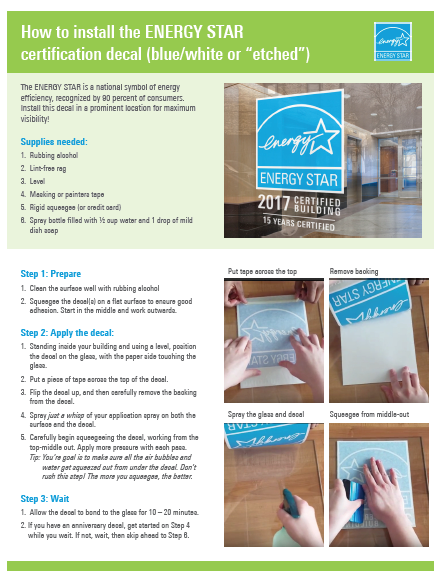 How to install your ENERGY STAR decal like a pro