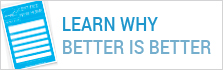 Learn Why Better is Better button