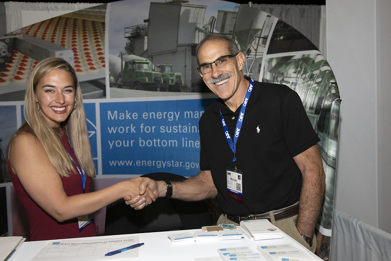 ENERGY STAR rep and partner shaking hands