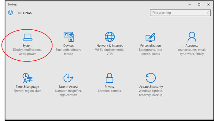 Manually activating power management in Windows 10