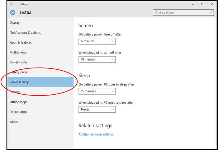Manually activating power management in Windows 10 | Products