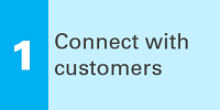 1 Connect with customers