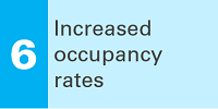 6 Increased occupancy rates