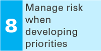 8 Manage risk when developing priorities