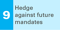 9 Hedge against future mandates