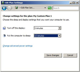 Manually activating power management in Windows Vista Image 5