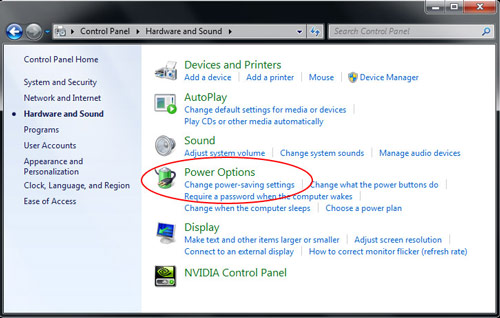 Manually activating power management in Windows 7 Image 2