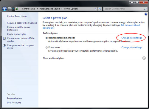 Manually activating power management in Windows 7 Image 4