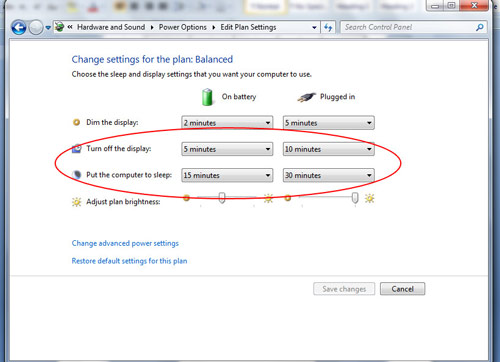 Manually activating power management in Windows 7 Image 5