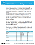 """Front page of """"ENERGY STAR Plan for the Next Generation of Performance Benchmarking"""""""