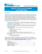 "Screenshot of the first page of the technical guidance, ""ENERGY STAR score for hospitals"""
