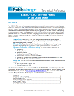 "Screenshot of the first page of the technical guidance, ""ENERGY STAR score for hotels"""