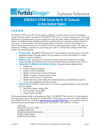 "Screenshot of the first page of the technical guidance, ""ENERGY STAR score for K-12 schools"""