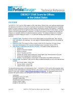 "Screenshot of the first page of the technical guidance, ""ENERGY STAR score for offices"""