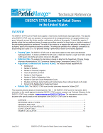 "Screenshot of the first page of the technical guidance, ""ENERGY STAR score for for retail stores and supermarkets"""