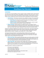 Screen shot of first page of GHG emissions technical reference document