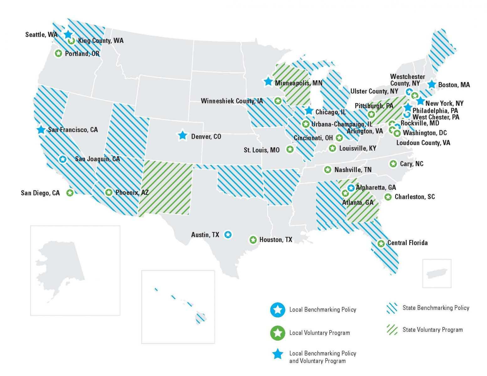 Map of programs and policies using ENERGY STAR